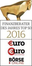 Auszeichnungen Finanzberater des Jahres 2016