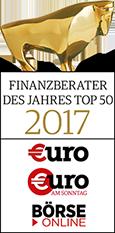 Auszeichnungen Finanzberater des Jahres 2017